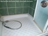 recherche de fuite dans une salle de bain