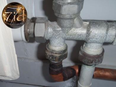 Recherche de fuite sur réseau chauffage caméra thermique