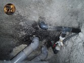 dégâts d'une fuite d'eau