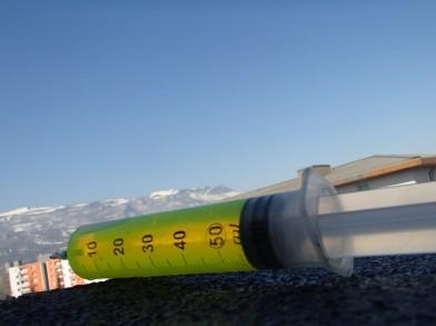 colorant fluoresceine pour détection d'infiltration