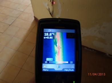 Caméra thermique pour une recherche de fuite dans un mur par l'entreprise 7id